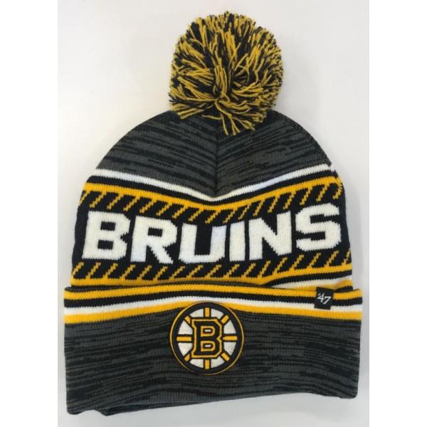 BONNET NHL POMPOM BOSTON