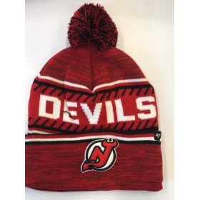 BONNET NHL POMPOM NEW JERSEY